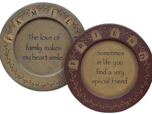 Friends & Family Tag Plate 2 Asstd.