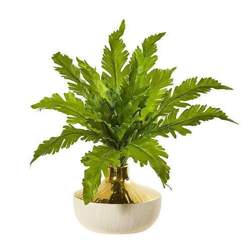 """16""""  Fern Artificial Plant in Designer Vase"""