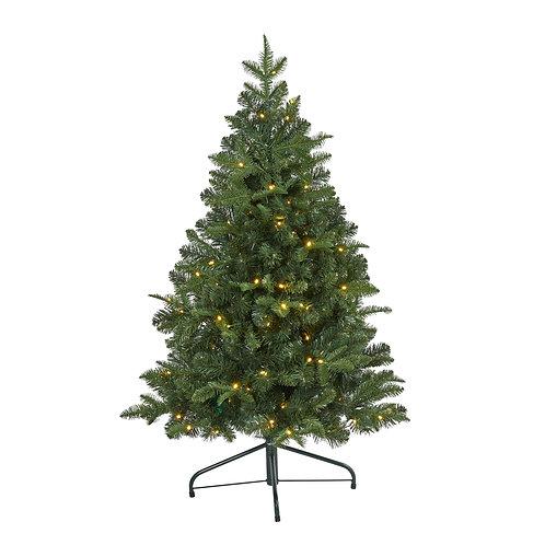 4' Grand Teton Spruce Flat Back Artificial Christmas Tree