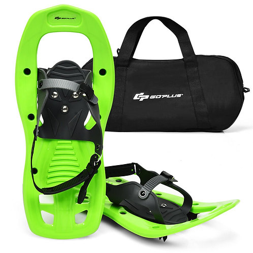 "17"" Lightweight Snowshoes w/ Bag Anti Slip-Green"