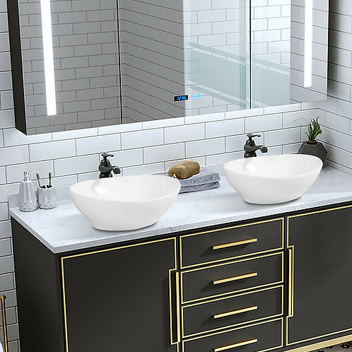 Oval Bathroom Basin Ceramic Vessel Sink