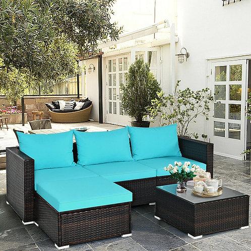 5PCS Patio Sofa Set w/ Coffee Table