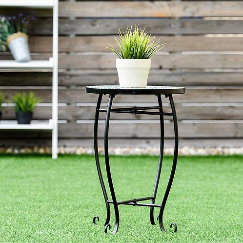 Outdoor Indoor Steel Accent Plant Stand Cobalt Table-Blue