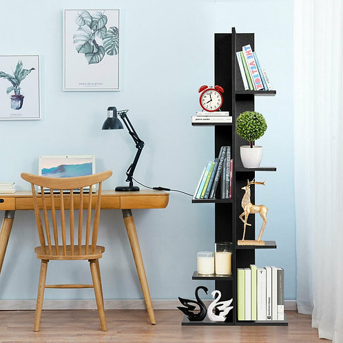 Open Concept Plant Display Shelf Rack Storage Holder-Black