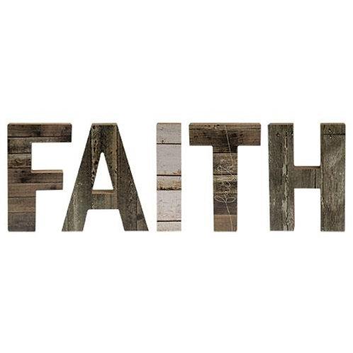*5/Set Farmhouse Wood Letters Faith