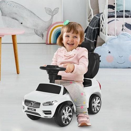 3 in 1 Kids Ride On Push Car Stroller-White