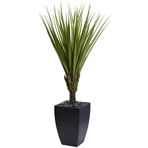 """65""""  Spiky Agave Artificial Tree in Black Planter"""