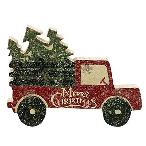 Pack of 2 Merry Christmas Tree Truck Chunky Sitter