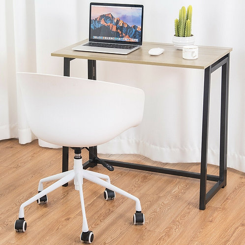 Foldable Home and Office Computer Desk-Nature and Black