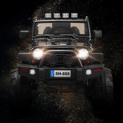 12V Kids Remote Control Riding Truck Car with LED Lights-Black