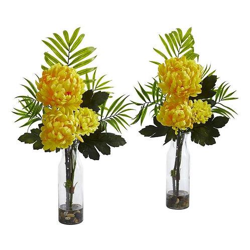 Tropical Mum Artificial Arrangement (Set of 2)