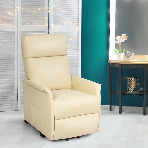 Electric Power Lift Recliner Chair with Remote Control-Beige