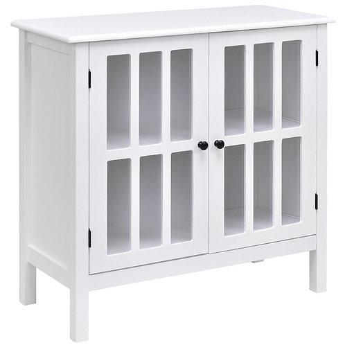 Glass Door Sideboard Console Storage Buffet Cabinet