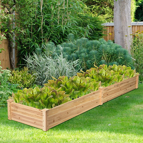 Wooden Vegetable Raised Garden Bed