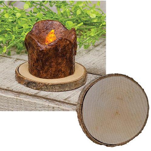"Natural Wood Slice - 4"""