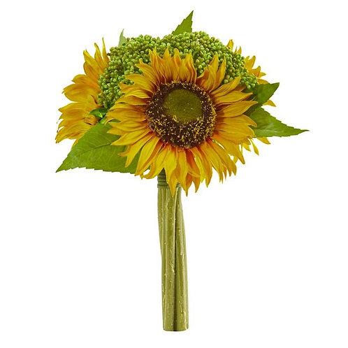 """12""""  Sunflower Bundle Artificial Flower (Set of 3)"""