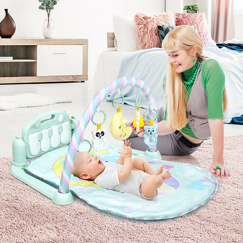 3-in-1 Baby Gym Piano Music and Lights Fun Play Mat