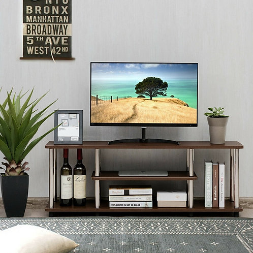 3-Tier 110 lbs Stainless Steel Listed TV Stand