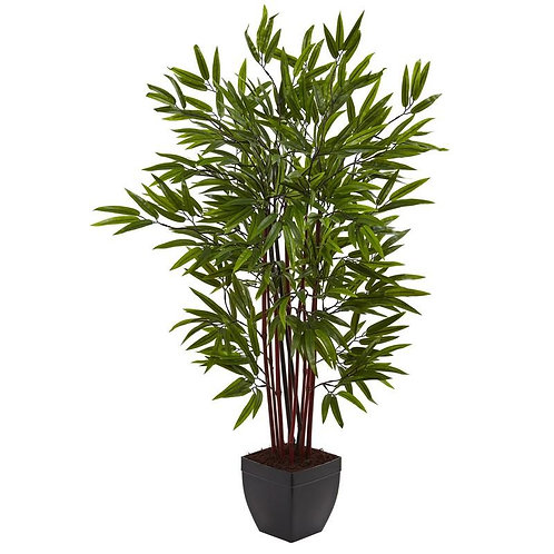 4' Bamboo Silk Tree w/Planter