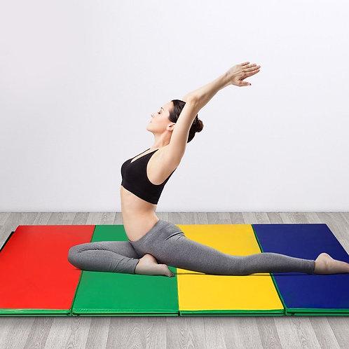 "4'x10'x2"" Thick Folding Panel Gymnastics Mat-Color"