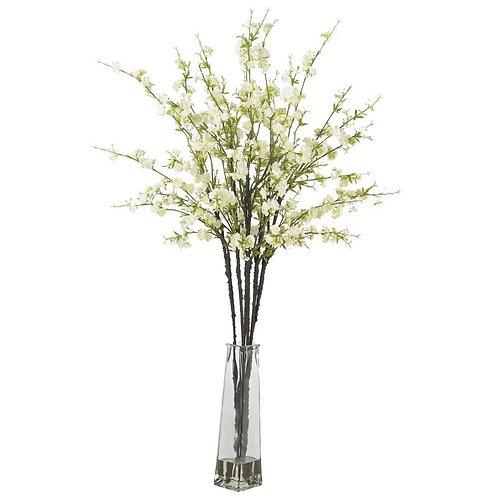 Cherry Blossoms w/Vase Silk Flower Arrangement