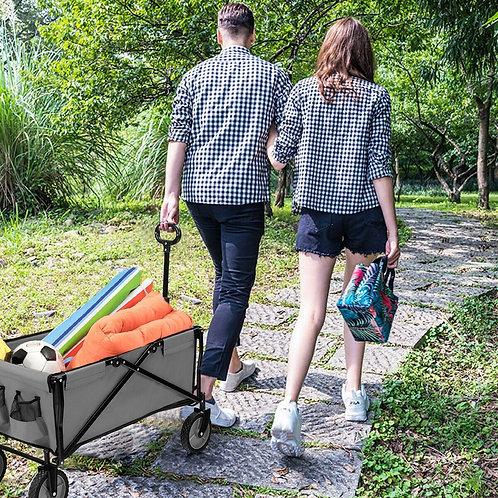 Collapsible Outdoor Utility Wagon Folding Garden Tool Cart