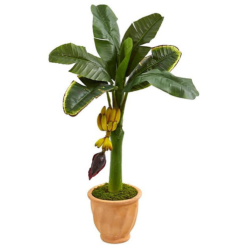 3' Banana Artificial Tree in Terracotta Planter