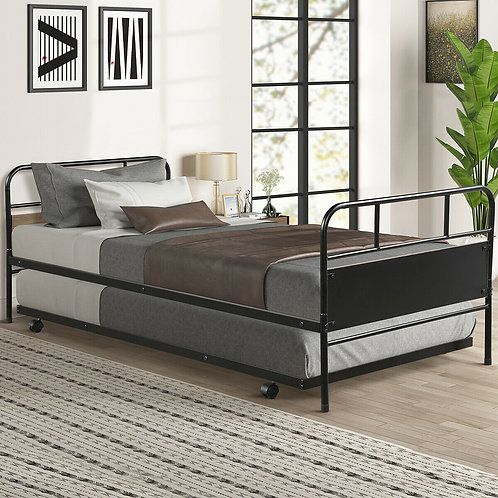 Twin Daybed and Trundle Frame Set Trundle Day Bed
