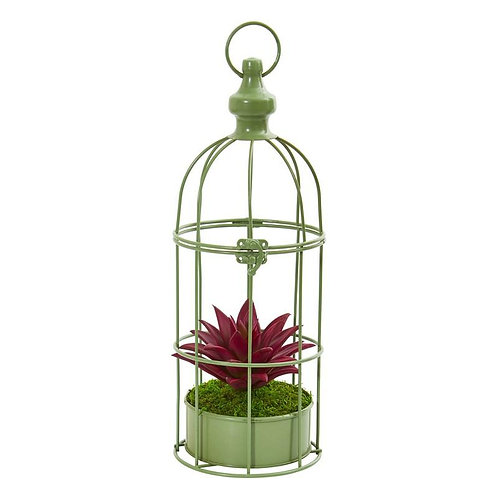 15' Succulent Artificial Plant in Decorative Cage