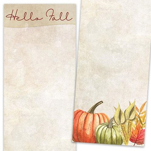 Pack of 4 Hello Fall Pumpkins Notepad