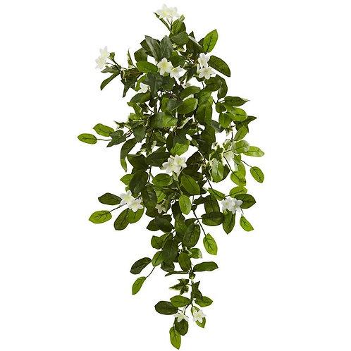 "19"" Mixed Stephanotis & Ivy Hanging Artificial Plant (Set of 4)"