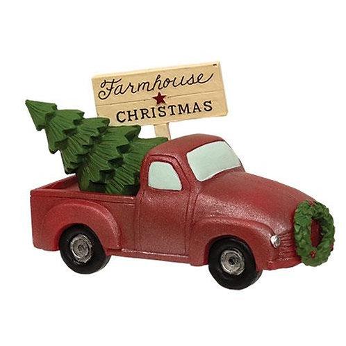 Farmhouse Christmas Truck w/Tree