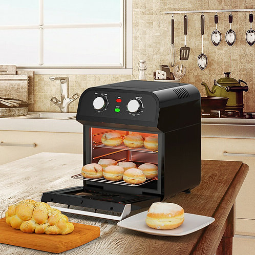 12.7QT 1600W Rotisserie Dehydrator Convection Air Fryer Oven
