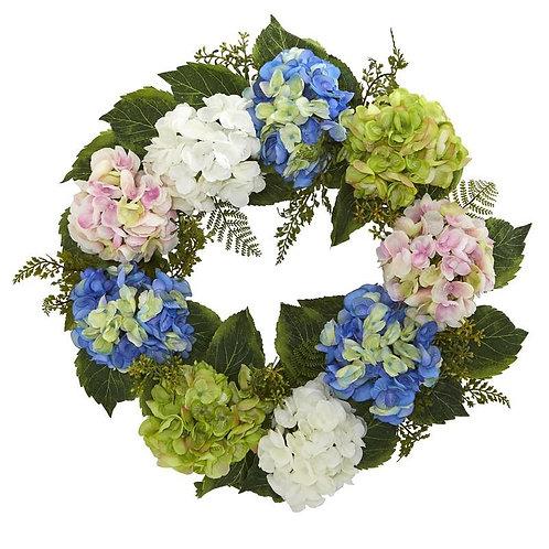24'' Hydrangea Wreath