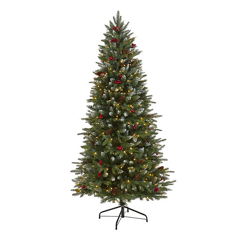 6' Snow Tipped Portland Spruce Artificial Christmas Tree