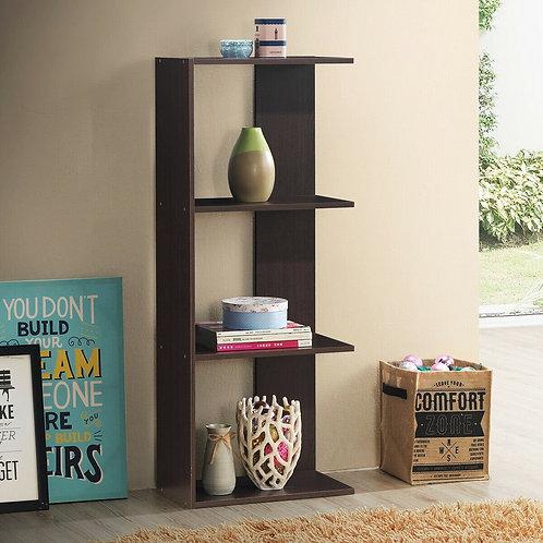 3-tier Freestanding Decorative Storage Wooden Bookcase