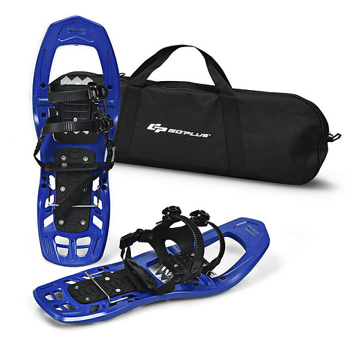22 inch Lightweight All Terrain Snowshoes with Bag Anti-Slip-Blue