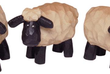 """3/set 1"""" Mini Resin Sheep"""