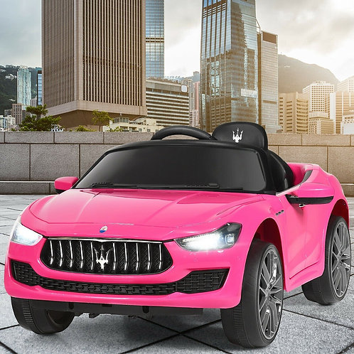 12 V Remote Control Maserati Licensed Kids Ride on Car-Pink
