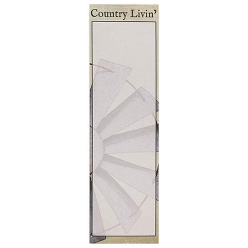 Pack of 4 Country Livin' Notepad
