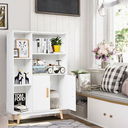 Floor Storage Free Standing Wooden Display Bookcase