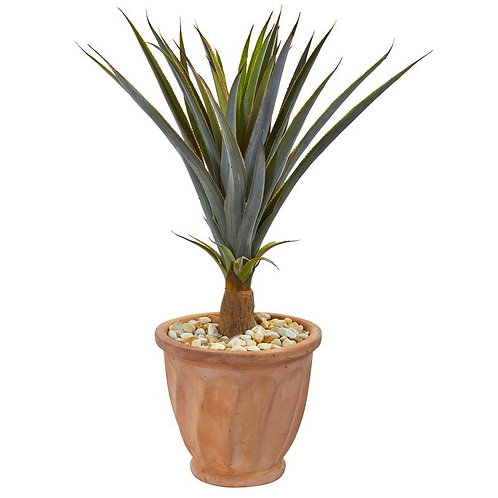 "32""  Agave Succulent Artificial Plant in Terra Cotta Planter"