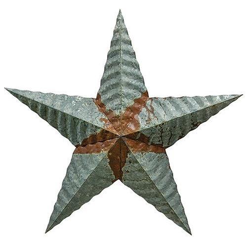 "Galvanized Corrugated Star 24"""