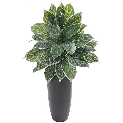 """37""""  Aglonema Artificial Plant in Planter (Real Touch)"""