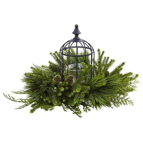 Mixed Pine Birdhouse Candelabrum