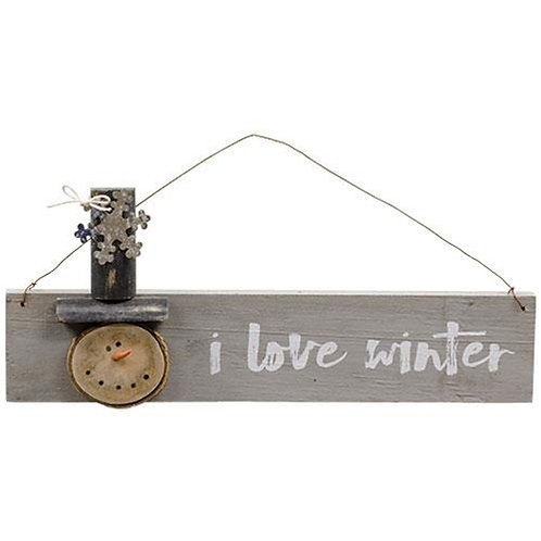 Pack of 2 *I Love Winter Hanger