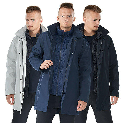Men'sInterchange3in1Waterproof Detachable SkiJacket-Gray-L