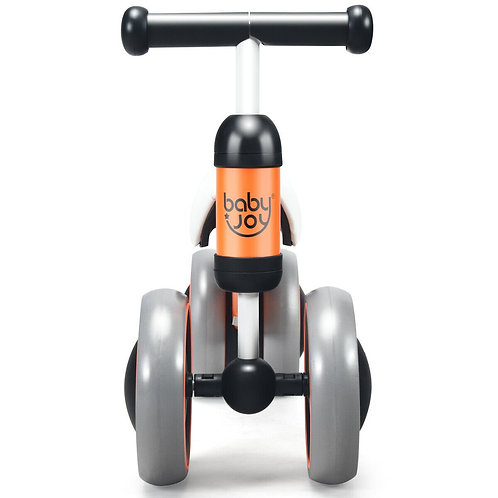 4 Wheels No-Pedal Baby Balance Bike-Orange
