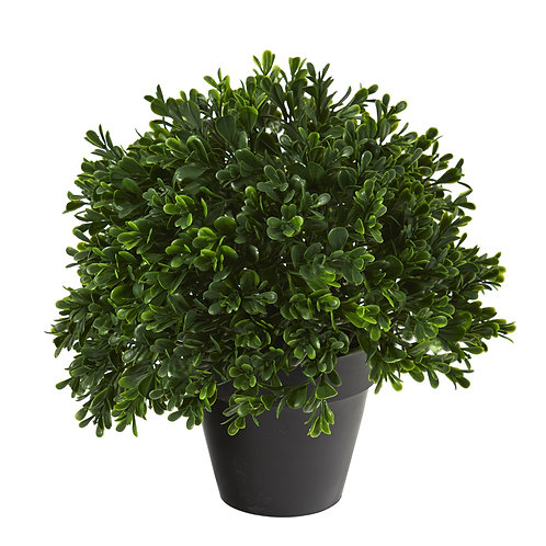 "10"" Boxwood Topiary Artificial Plant UV Resistant"
