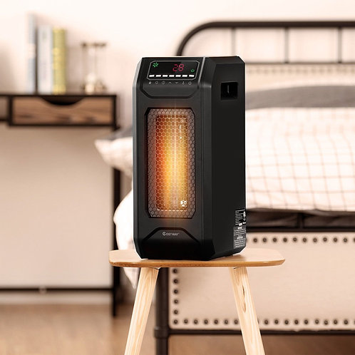 1500 W Portable Electric Space Heater with Timer Remote Control